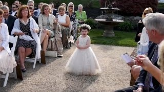 They had the CUTEST flower girl!