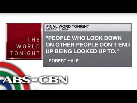 [ABS-CBN]  Final Word – March 14, 2020 | ANC