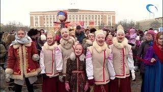 Масленицу по русскому народному обычаю отметили гуляньями, играми и блинами