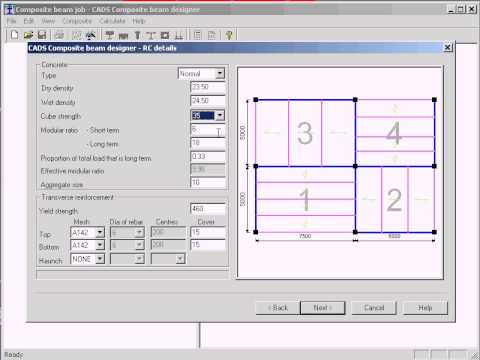 Composite Beam Designer-Floor Panel Feature