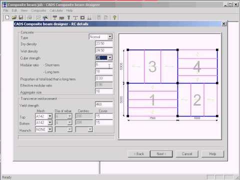 Composite Beam Designer-Floor Panel Feature