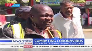 Boda boda operators embrace measures to combat spread of CORONAVIRUS