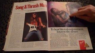 Flipping through old Guitar World - Nov 1989 [ASMR Soft-Spoken]