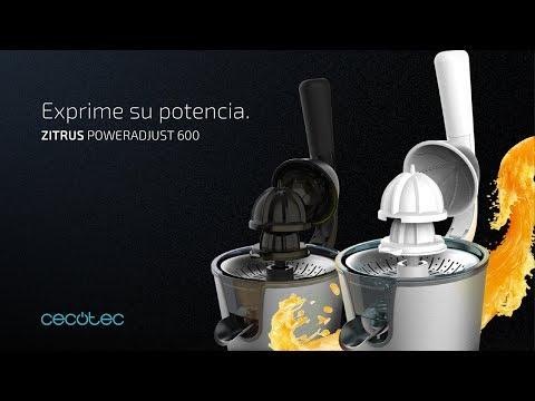 Exprimidor eléctrico Zitrus PowerAdjust 600 Cecotec Negro