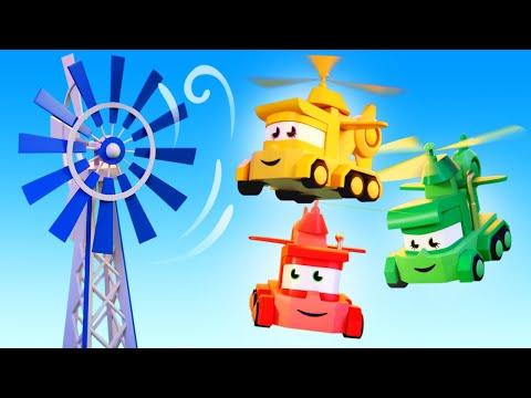最好看的儿童汽车卡通片 - 风力涡轮机 - 卡车闯天下 Truck Games