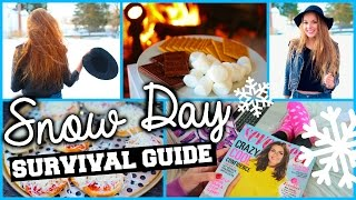 Snow Day: DIY Sleepover, Snacks, Activities & Winter Outfits!