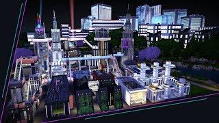 Futuristic Metropolis | The Sims 4 Speed Build