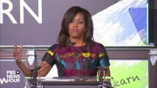 Watch Michelle Obama speak on International Women