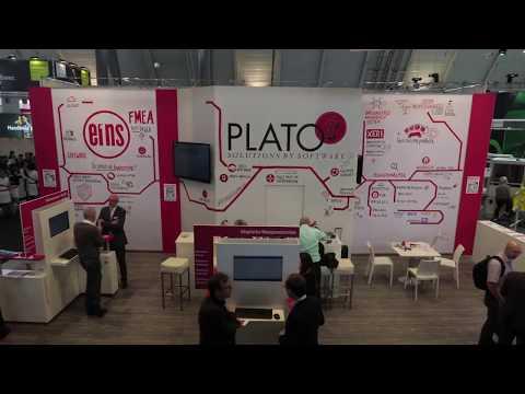 Der Messestand der PLATO AG auf der Control 2017