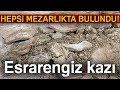 Mezarlıkta Esrarengiz Kazı! Kazılan Çukurun Etrafında Küp Parçaları Bulundu