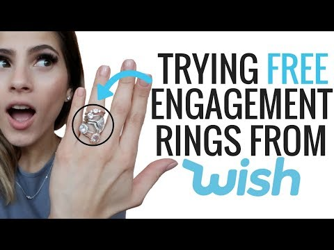 I TRIED FREE ENGAGEMENT RINGS FROM WISH