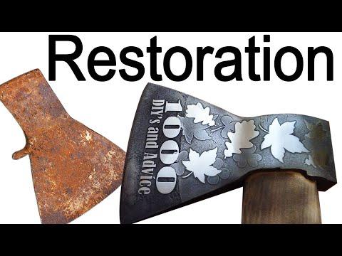 МИЛЛИОНЫ ТОПОРОВ МОГУТ БЫТЬ ТАКИМИ -  RESTORATION AX HOUSE  Реставрация Топора