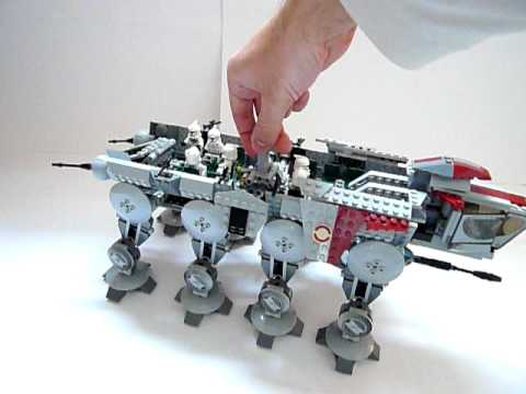 Vidéo LEGO Star Wars 10195 : Le Republic Dropship avec l'AT-OT Walker