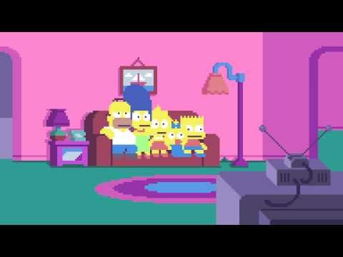 Watch The SimpsonsCouch Gag Get Recreated In Glorious Pixel Animation
