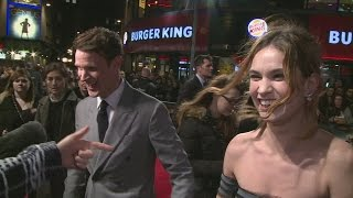 Мэтт Смит, CUTE: Lily James gets flirty with boyfriend Matt Smith at Pride and Prejudice and Zombies premiere