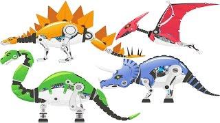 5 Dinosaur Robot Toys Game + Quick Assemble 6 Super Robots   Eftsei Gaming