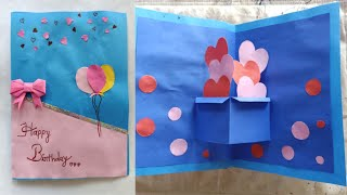 Beautiful Handmade Birthday Card Idea-DIY GREETING Cards/easy Heart Pop Up Birthday Card/pop Up Card