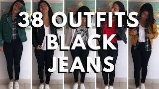 BLACK JEANS 38 OUTFITS IDEAS  |  BASICOS
