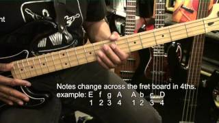 How To Find & Play Notes On The 4 String Bass Guitar Tutorial Lesson EBMTL HD