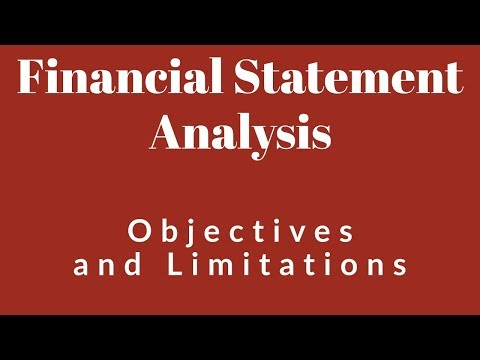 Financial Statement Analysis - Objectives and Limitations | HSC/Class 12 | Accountancy