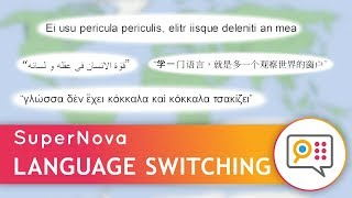 """Automatic Language Switching"" with SuperNova Speech, and Magnifier & ScreenReader"