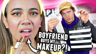 BOYFRIEND BUYS MAKEUP FOR GIRLFRIEND! ($600 at Sephora Shopping Challenge 2017)