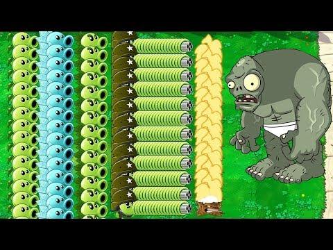 , title : 'Plants vs Zombies - All Pea PvZ vs Gargantuar vs Dr. Zomboss