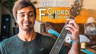 """A Beginner Guide To The Dreaded """"F"""" Chord On Guitar // F Chord Guitar Easy!"""