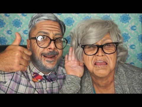 Maquillaje para Parejas en Halloween Super Facil! (Abuelo y Abuela)