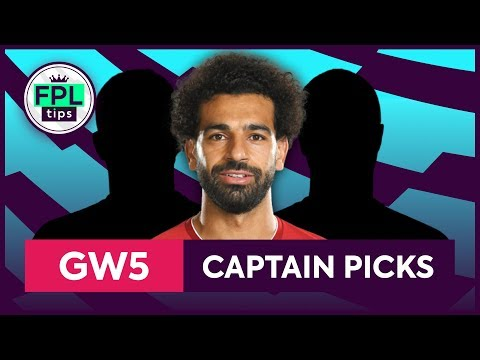 GW5: TOP 3 FPL CAPTAINCY PICKS | Gameweek 5 | Fantasy Premier League Tips 2019/20
