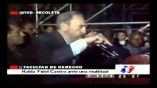 Fidel Castro Discurso En Buenos Aires Argentina 0230 Hs