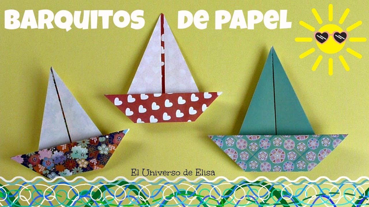 Cómo hacer un Barquito de Papel, Manualidades para el Verano, Barco Origami, Origami Fácil