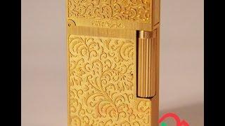 Bật lửa Dupont hoa văn mềm mại màu vàng D10 | Deva.vn | GIá 650.000 Đ