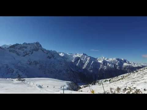 VAL DI SOLE  - Passo Tonale SKI ADAMELLO 2017 - piste 22 4K