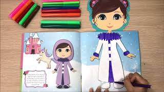 Girl toys with makeup, dress sticker for Na Na princess (Chim Xinh channel)