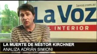 La Muerte De Kirchner / Analiza Adrián Simioni