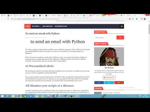 Python SMTP configuration