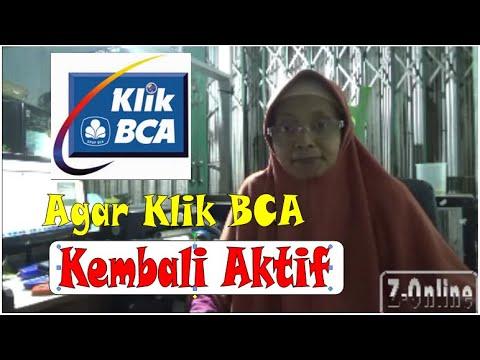 CARA MENGAKTIFKAN KLIK BCA YG TERBLOKIR (INTERNET BANKING BCA)