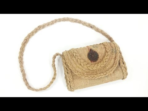 How To Make Jute Bag Jute Craft Crafts Junction