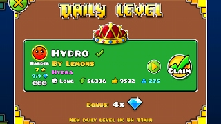 Geometry Dash [2.1] | Daily Level 06/02/17 | Hydro by Lemons (3 coins)