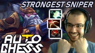 Strongest SNIPER You Will Ever See ☆☆☆ CARRY | Dota Auto Chess Gameplay 114
