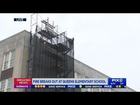 Fire breaks out at Queens elementary school