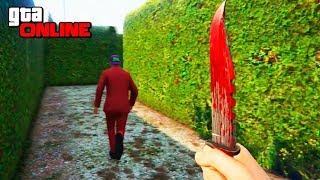 ОБЕРНИСЬ, ОН ПРЯМО ЗА ТОБОЙ! ЛАБИРИНТ СМЕРТИ - УБЕЙ ИЛИ УМРИ В GTA 5 ONLINE