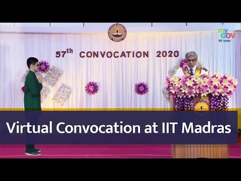 Virtual Convocation at IIT Madras