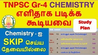 TNPSC Chemistry Syllabus, Topic Wise Study Plan | TNPSC Group 4:CCSE IV 2019