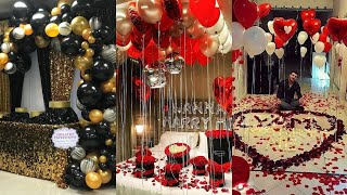 Wedding Anniversary Decoration Ideas At Home | Romantic Room Decor Ideas | Valentine Decor Idea