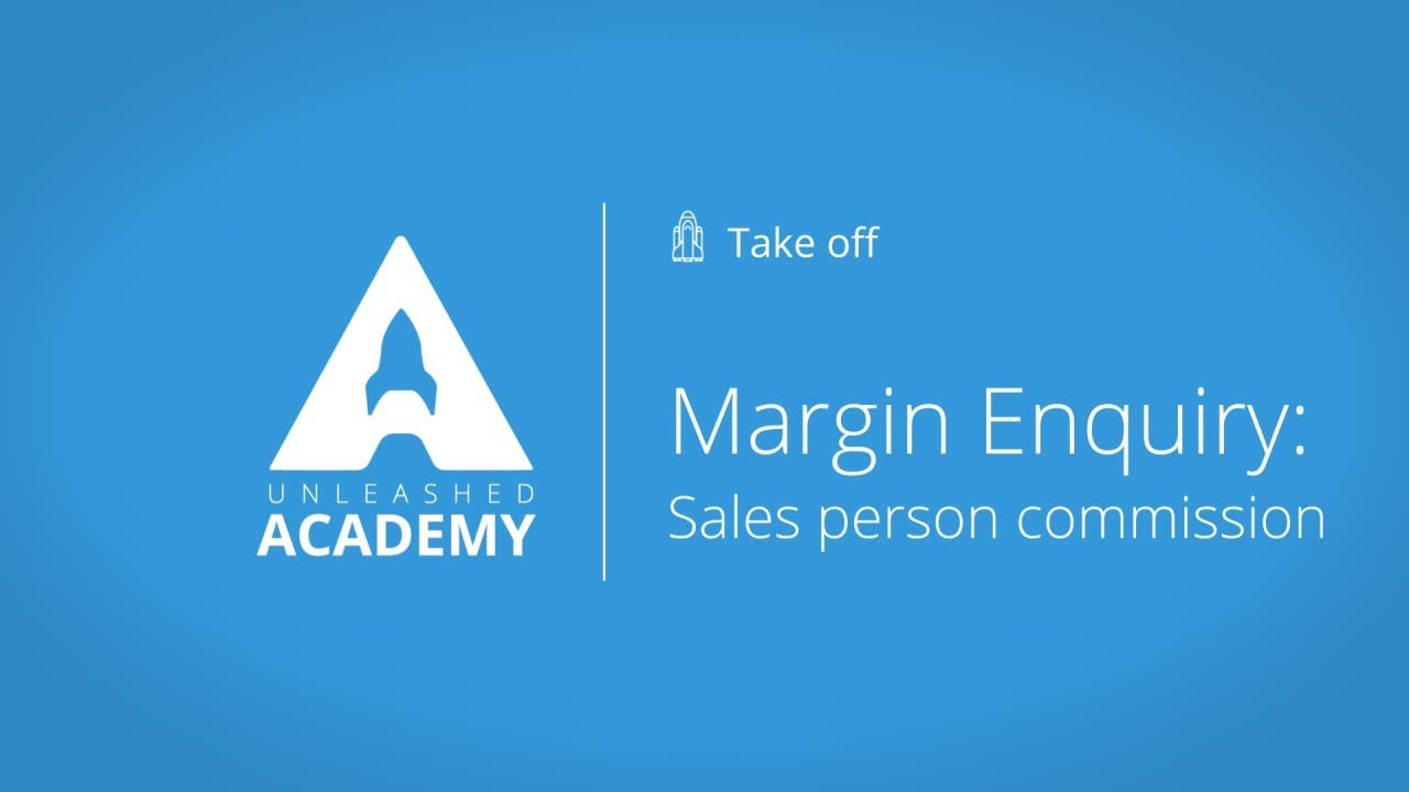 Margin Enquiry: Sales person commission YouTube thumbnail image