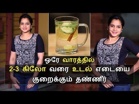 இந்த தண்ணீரை குடித்தால் உடல் எடை குறையும்    Weight loss Detox drink tamil   Say Swag
