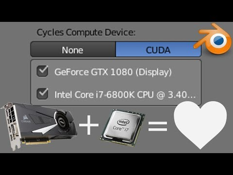 Tutorial] Use BOTH GPU AND CPU to render! Faster render times