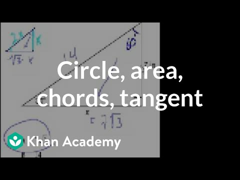 CA Geometry: Circle area chords tangent (video) | Khan Academy